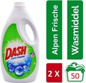 Dash Alpen Frische Vloeibaar wasmiddel - duo pack 2x3,25 L - 100 wasbeurten