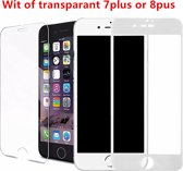 iPhone Wit of transparant  Glazen screenprotector iphone 7plus or 8plus apple tempered glass | Gehard glas Screen beschermende Glas Cover Film