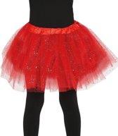 Petticoat/tutu rokje rood 31 cm voor meisjes - Tule onderrokjes rood voor kinderen