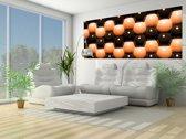 Fotobehang Abstract | Oranje | 250x104cm