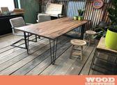 Robuuste industriële houten tafel