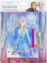 Disney Frozen dagboek met slot en pluizige pen - Dagboeken voor meisjes