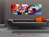 Schilderij - Kleurrijke onderdompeling