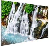 Brede waterval Aluminium 90x60 cm - Foto print op Aluminium (metaal wanddecoratie)