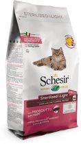 Schesir Sterilized en Light Ham - Kattenvoer - 1.5 kg