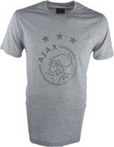 Ajax T Shirt Logo Senior - Grijs - Maat XXL