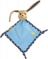 Knuffeldoekje konijn Pioupiou blauw sterren