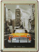 Signs-USA New York Taxi - Retro Wandbord - Metaal - 40x30 cm