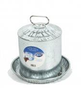 Duvo+ Drinkklok Galvanise 10L - Drinkbak - 32.5 cm x 28 cm - Grijs