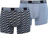 Puma - Heren 2-Pack Active Bolt Print Boxershorts Blauw Zwart - L