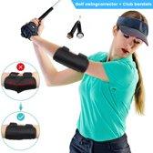 Golf swing corrector - Golf swing trainer - Trainingsmiddel voor de perfecte slag bij golf - Gratis Club Borstels