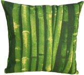 Kopu Bamboo - Sierkussen - 40x40 cm - Groen