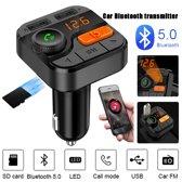 Bluetooth 5.0 Auto FM Zender Bas SD Kaart MP3 Speler 5V 3.4A USB Poort Handsfree Adapter Carkit