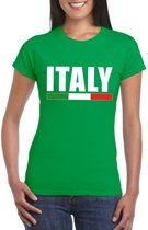 Groen Italy/ Italie supporter shirt dames S