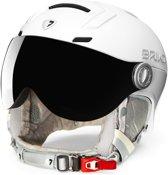 Ambra Visor Photo Ski helmet PEARL WHITE - Maat M/L