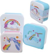 Set van drie doosjes eenhoorn/ unicorn . Koekjesdoos