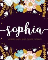 Sophia: Notebook - Libreta - Cahier - Taccuino - Notizbuch: 110 pages paginas seiten pagine: Modern Florals First Name Noteboo