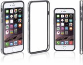 Zwart Transparant Bumper Case Hoesje voor iPhone 8 Plus