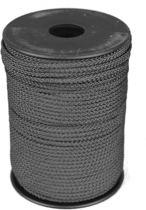 100 mtr - Touw - Zwart - 3mm - Gevlochten Koord