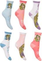 6 paar sokken Disney Princess maat 27-30