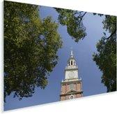 Independence Hall-toren in het Amerikaanse Philadelphia Plexiglas 90x60 cm - Foto print op Glas (Plexiglas wanddecoratie)