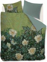Beddinghouse x Van Gogh Museum Wild Roses - Dekbedovertrek - 240x200/220 cm - Zeegroen