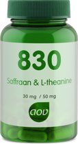 AOV 830 Saffraan L Theanine Voedingssupplement - 30 Capsules