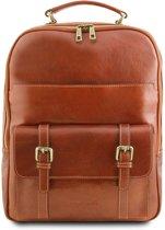 Tuscany Leather leren laptop rugzak Nagoya - Cognac - TL141857