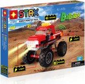 STAX Hybrid Monster Truck Rood bouwen met licht en geluid