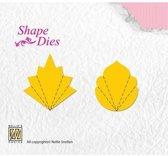 Nellies Choice Shape Mal - Flower Fan C+D SD056
