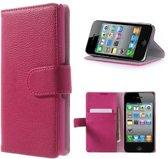 iPhone 4 4s Portemonnee Hoesje Case Roze
