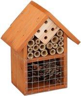 Bruin insectenhotel 19 cm - Hotel/huisje voor insecten - Bijenhuis/vlinderhuis
