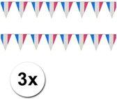 3x Vlaggenlijn Frankrijk - versiering
