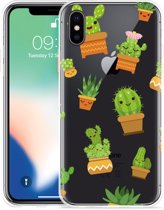 Apple iPhone Xs Hoesje Happy Cactus