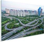 Stedelijke architectuur in de Chinese miljoenenstad Wuxi Plexiglas 90x60 cm - Foto print op Glas (Plexiglas wanddecoratie)
