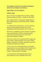 Ten Highly Effective Habits of Highly Effective Students in 90 Days