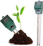 3-in-1 PH Meter / Vochtmeter / Lichtmeter - Voor Grond / Tuin / Bodem / Planten