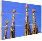 Details Sagrada Familia in Barcelona Hout 80x60 cm - Foto print op Hout (Wanddecoratie)