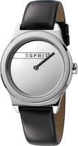 Esprit ES1L019L0015 Magnolia Horloge - Leer - Zwart - Ø 34 mm