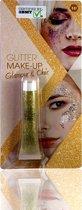 3 BMT glitter make up goud - voor gezicht en lichaam