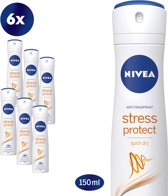 NIVEA Stress Protect  Deodorant Spray- 6 x 150 ml - Voordeelverpakking