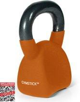 Gymstick Ergo - Kettlebell - Met DVD - 8 kg - Oranje