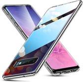 Samsung Galaxy S10 - hoesje met Tempered Glass achterkant bescherming - ESR – Roze & blauw achterkant - Hues Mimic