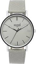 Regal - Regal slimline horloge met een grijze band
