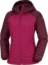 82b77a9bd89 Columbia Powder Lite Hooded Jas Dames - Pomegranate / Rich Wine - Maat S