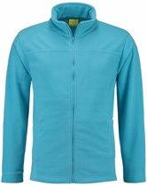 Turquoise fleece vest met rits voor volwassenen 2XL (44/56)