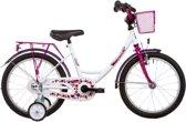 Vermont Girly Summer - Kinderfiets - 16 Inch - Meisjes - Wit/Roze