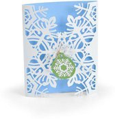 Sizzix Thinlits Die Set - 4PK Card Wrap Snowflake 663606 Jordan Caderao