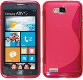 Samsung Ativ S Silicone Case hoesje s-style Roze