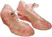 Prinsessen schoenen - roze - Prinses Elsa - Prinses Anna - maat 35 (vallen 2 maten kleiner uit) - verkleedkleding